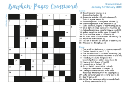 Burpham Pages Crossword No.3
