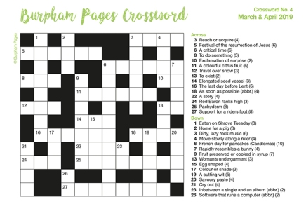Burpham Pages Crossword No.4