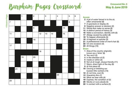Burpham Pages CrosswordNo.5