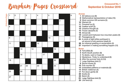 Burpham Pages Crossword No.1