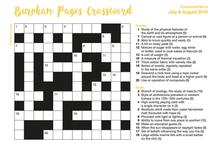 Burpham Pages Crossword No.6