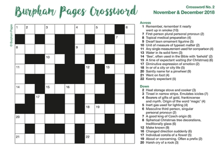 Burpham Pages Crossword No.2