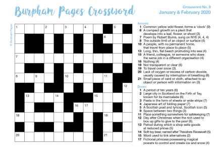 Burpham Pages CrosswordNo.9