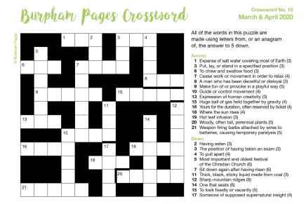 Burpham Pages CrosswordNo.10