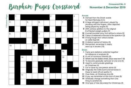 Burpham Pages CrosswordNo.8