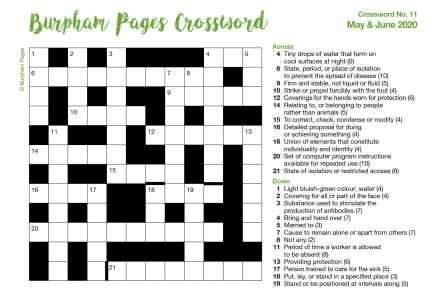 Burpham Pages CrosswordNo.11