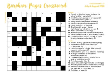 Burpham Pages CrosswordNo.12