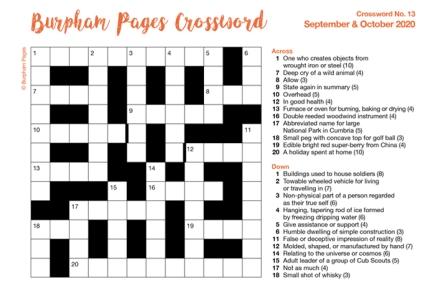 Burpham Pages CrosswordNo.13