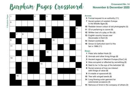 Burpham Pages Crossword No.14