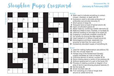 Burpham Pages CrosswordNo.15